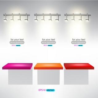 鮮やかな照明の展示ブース Brilliant lighting display booth イラスト素材