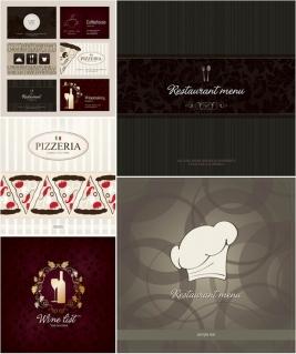 モダンなレストランのメニュー カバー restaurant menu covers in modern style イラスト素材