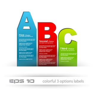 アルファベットのテキスト ラベル stylish label design イラスト素材
