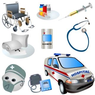 医療関連のクリップ アート vector clip art of medical topics イラスト素材1