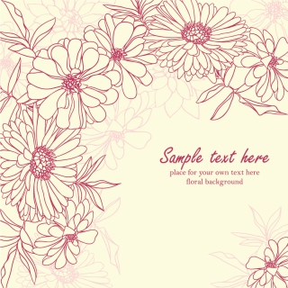 菊の花びらを線画で描いた背景 Fine line art chrysanthemum petals background イラスト素材
