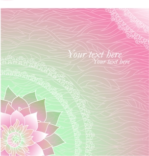 淡い花柄パターンの背景 shading flower pattern background イラスト素材