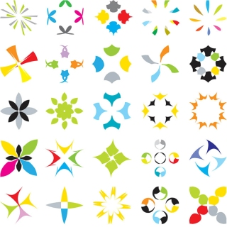 色鮮やかなロゴ見本 Multicolored logos templates vector イラスト素材