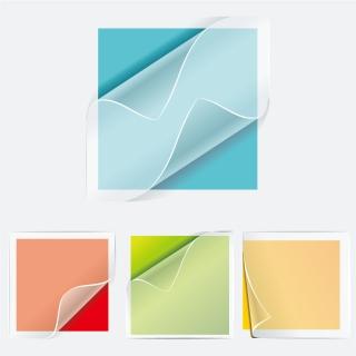 透明なステッカー transparent stickers vector イラスト素材1