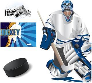 アイスホッケー プレーヤーのイラスト hockey illustrations and backgrounds with hockey players イラスト素材