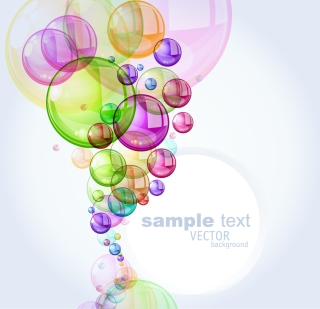 カラフルなシャボン玉が重なる背景 colorful bubbles background イラスト素材