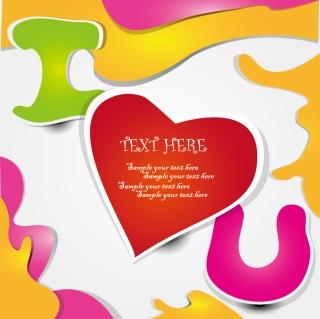 曲線でハートと文字を描いたラベル beautiful hearts letters sticker label イラスト素材