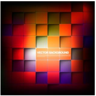 陰影のある立方体を並べた背景 cube with a shadow background イラスト素材