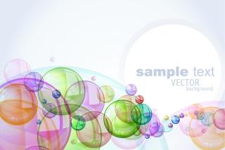 カラフルな泡が重なる背景 colorful bubbles background イラスト素材
