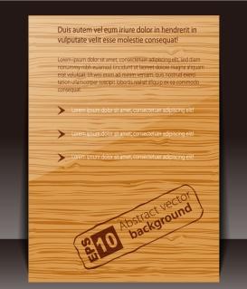 木目調の表紙デザイン wood grain texture fashion cover design イラスト素材
