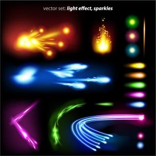 明るく光るカラフルな流線の素材 bright colors colorful Halo flow lines  イラスト素材