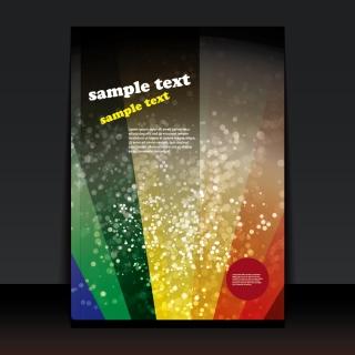 光が拡がるデザインの表紙テンプレート spot light flare cover templates design  イラスト素材