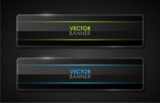ガラス テクスチャのバナー cool glass texture banner vector material イラスト素材