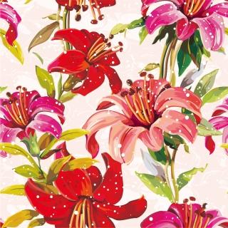 花びらパターンの背景 flowers petals pattern background イラスト素材
