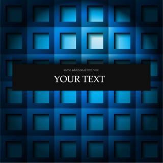 立体的な青いグリッドの背景 Elegant abstract grid text blue background イラスト素材