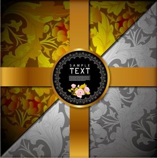 古典的な模様の表紙見本 Classic pattern background イラスト素材