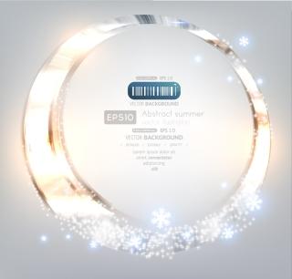 眩しく輝くサークルの背景 brilliance glare circle background イラスト素材