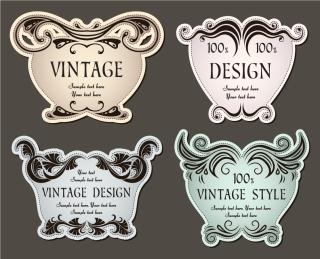 クラシック スタイルのステッカー classic pattern stickers イラスト素材
