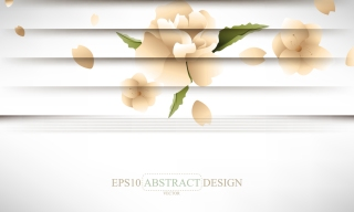シャッター スタイルの花の背景 creative shutters style floral background イラスト素材