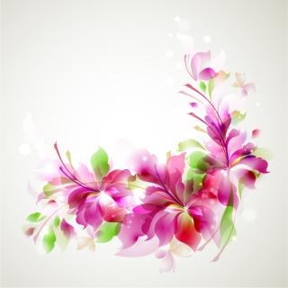 美しい花弁が拡がる背景 flare petals plants leaves background イラスト素材