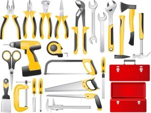 各種工具類 Cartoons tools material イラスト素材