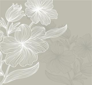 花の線画の背景 Lines flowers stripes shading vector イラスト素材