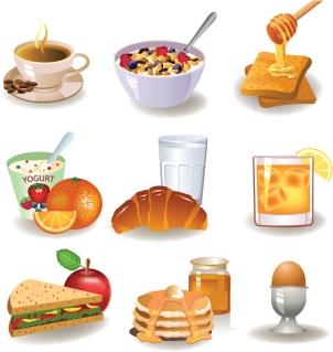 朝食の献立 breakfast image イラスト素材