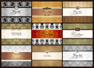 クラシックパターンの表紙見本 classic pattern cards background イラスト素材