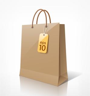買い物用紙袋 Shopping paper bags design イラスト素材