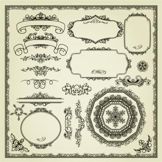 クラシックな飾り罫 classic pattern border イラスト素材