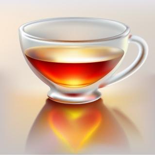 透明なティーカップ realistic tea cups イラスト素材