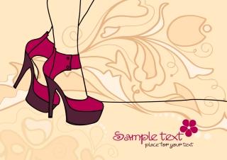 セクシーなハイヒールのシルエット sexy lines high heels silhouette イラスト素材
