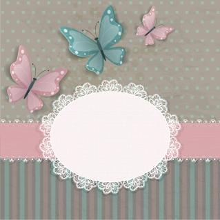 蝶が舞う表紙見本 Cute butterflies lace cards イラスト素材