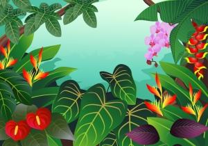 ジャングルの植物 Cartoons animation illustration plant イラスト素材