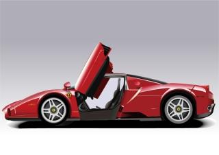 赤いフェラーリ Red Ferrari イラスト素材