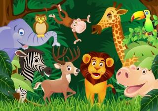 動物の漫画 cartoon animals vector イラスト素材