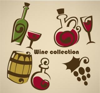 手書きのボトルワイン hand-painted bottles wine illustrator イラスト素材