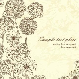 花弁の線画の背景 beauty flower background イラスト素材