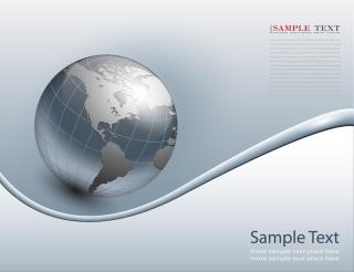 地球を背景にしたビジネスカード business background with planet globe イラスト素材