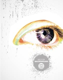 大きな瞳の背景 splash eyes background イラスト素材