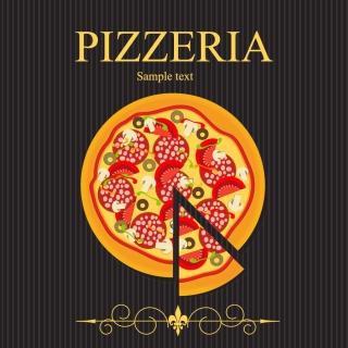 ピザのポスター背景 Pizza pop poster background イラスト素材