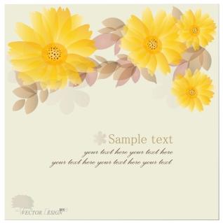 黄色い花びらの背景 flowers petals background イラスト素材