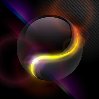 光沢ある流線の背景 Gorgeous halo background dynamic flow line イラスト素材