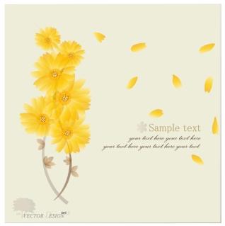 花びらが舞う背景 Halo flowers petals background イラスト素材