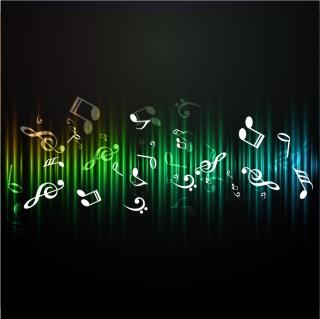 音符の背景 notes symbols abstract background イラスト素材