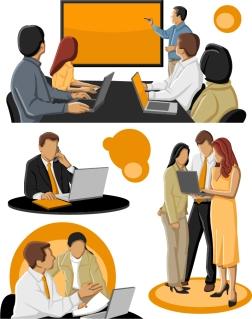 ビジネス会議 business people conferences Vector イラスト素材