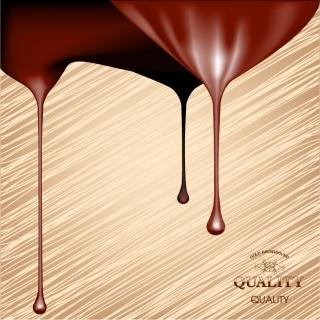 チョコレート色のペンキの滴り beautifully paint drip background イラスト素材