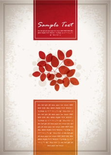 木の葉の表紙見本 Beautiful leaves posters イラスト素材
