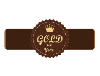 金の王冠タグ Vector Gold Tag イラスト素材