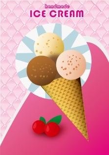 アイスクリーム フライヤー見本 Ice Cream Flyer イラスト素材